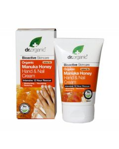 Dr. Organic bioactive skincare organic manuka honey hand & nail cream 125ml