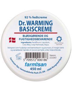 Dr. Warming basiscreme 92% fedtcreme blødgørende og fugtighedsbevarende 450ml