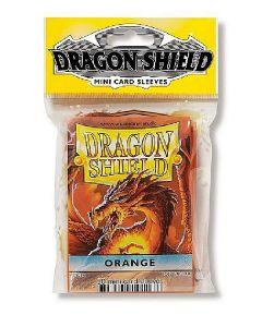 Dragon shield 50 mini card sleeves orange