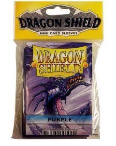 Dragon shield 50 mini card sleeves purple