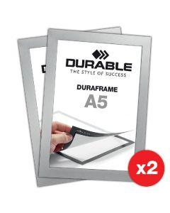 Durable duraframe A5 der selbstklebende info-rahmen 2 pack