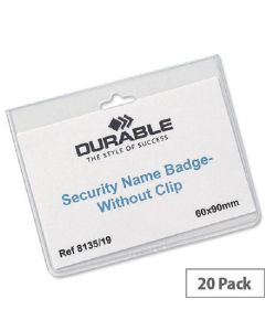 Durable name badges 60x90mm 20 stk.8135-19