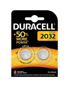 Duracell 2032 batteri DL/CR 3V lithium 2 pack