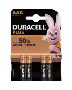 Duracell plus batteri AAA LR03/MN2400 4 pack