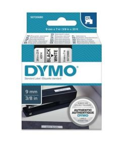 Dymo D1 S0720680 / 41913 9mm x 7m sort på hvid