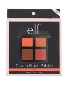 E.L.F. cream blush palette soft 83340 12.4g (Æske ikke pæn)