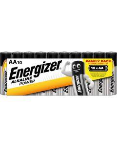 Energizer alkaline power batterier AA-LR6 10 pk