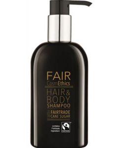 Fair cosmethics hair & body shampoo with fairtrade cane sugar 300ml