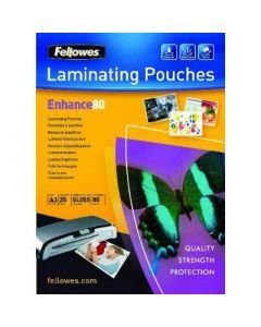 Fellowes A4 Laminating Pouches 80 microns 100 stk