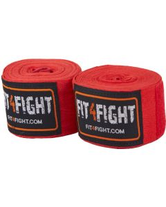 Fit4fight håndbind bomuld 4,5m rød 2pk