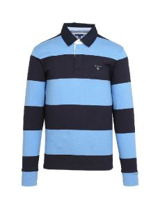 Gant polo the original barstripe heavy rugger Pacific Blue Str. XXX-Large