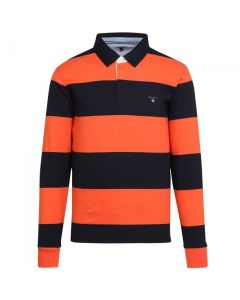 Gant polo the original barstripe heavy rugger i Strong Coral Str. XX-Large