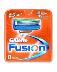 Gillette fusion 8 cartridges 5 blade + 1 trimmer