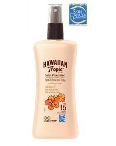 Hawaiian tropic satin protection sun spray lotion SPF15 medium 200ml