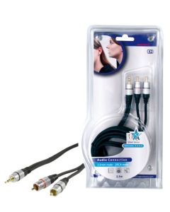 HQ silver series audio connection 3,5mm male - 2RCA male 2,5m