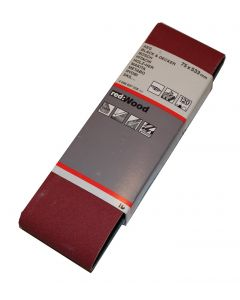 Bosch  slibebånd 75x533 korn 120 red wood 3 stk