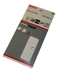 Bosch slibeark 93x185 korn 320 10 ark White paint