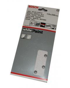 Bosch slibeark 115x230 korn 100 10 ark White paint