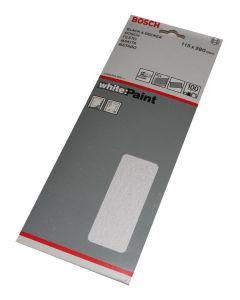 Bosch slibeark 115x280 korn 100 10 ark White paint