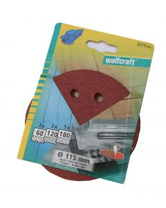 Wolfcraft Ø115 excenterslibepapir 5 stk sortiment model 2277000