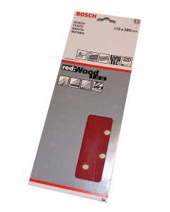 Bosch slibeark 115x280 korn 320 10 ark red wood