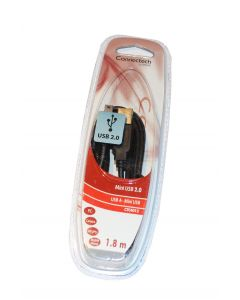 Connectech USB 2.0 USB-A (M) - USB Mini 5pin, 1,8m, CTC4012
