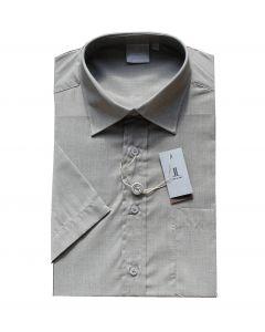 Less & Loft skjorte model 506310 i sand str. L kortærmet