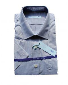 Link Skjorte Model: 520114 i Grå/Blå (str. 45/46) kortærmet
