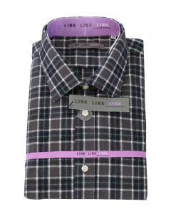 Link Skjorte Model: 509607 i Sort/Ternet (str. 39/40) langærmet