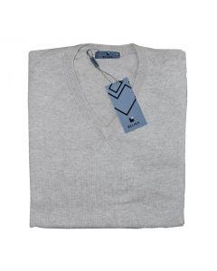 Belika Pullover strik V hals sand str. 52/L