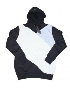 Minimum Hættetrøje Derek i Navy/Hvid/Lyseblå Str. Medium