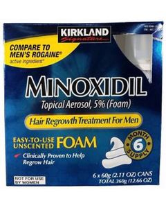 Kirkland signature minoxidil hair regrowth treatment for men (6 month supply)