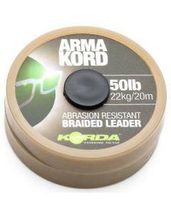 Korda arma kord sub brown 50lb 22kg/20m braided leader