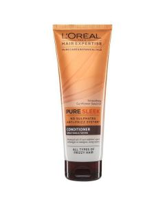 L'oréal hair expertise pure sleek conditioner smoothing & taming 250ml