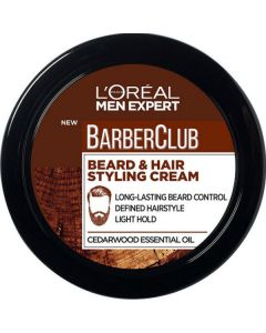 L'oréal men expert barberclub beard & hair styling cream 75ml