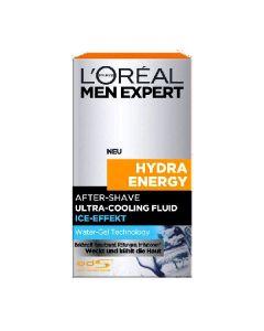 L'oréal men expert hydra energy after shave ultra-cooling fluid ice-effekt 100ml