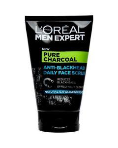 L'oréal men expert pure charcoal anti-blackhead daily face scrub 100ml