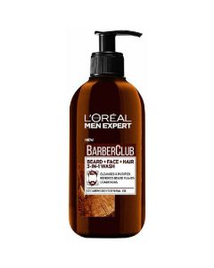 L'oréal paris men expert barberclub cedarwood essential oil beard face & hair wash 200ml