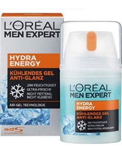 L'oréal paris men expert hydra energy kühlendes gel anti-glans air-gel technologie 50ml