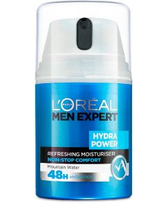L'oréal paris men expert hydra power refreshing moisturiser non-stop comfort mountain water 50ml