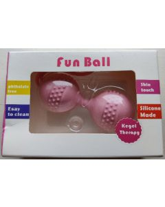 Ladies care kegel treatment fun ball pink