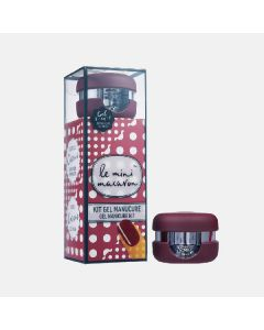 Le mini macaron gel manicure kit cassis 3 in 1