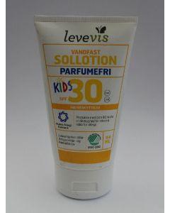 Levevis vandfast sollotion kids SPF30 høj beskyttelse parfumefri 150ml