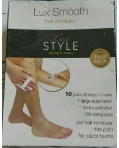 Lux smooth hair exfoliator lux style 10 pads