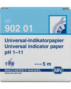 Macherey-nagel universal-indikatorpapier pH 1-11 ref. 902 01 1x5m