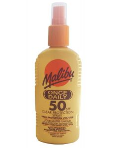 Malibu once daily clear protection spray high protection 50SPF 200ml