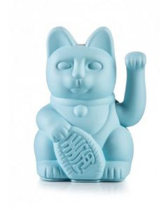 Maneki neko by donkey lucky cat blue