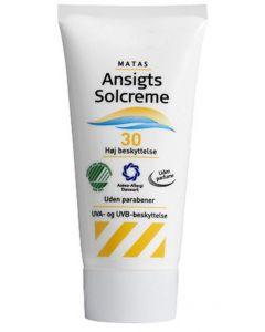 Matas ansigts solcreme 30 høj beskyttelse 80ml