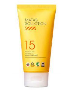 Matas sollotion mellem SPF15 vandfast uden parfume 200ml