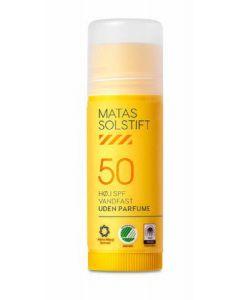 Matas solstift høj SPF50 vandfast uden parfume 15g
